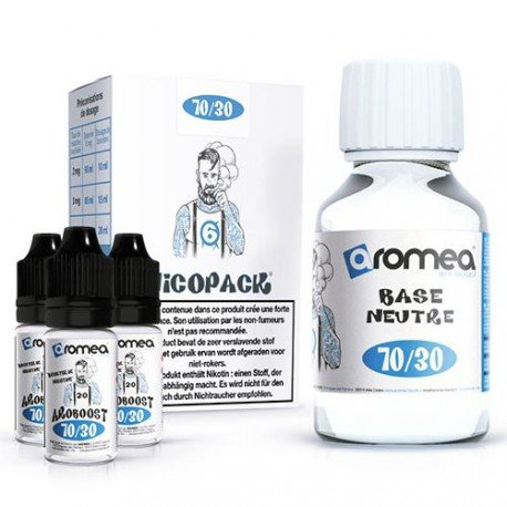 pack-diy-70-30-6mg - Aromea liquide
