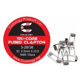 Résistances Tri-Core Fused Clapton 0,32 Ω - Coilology