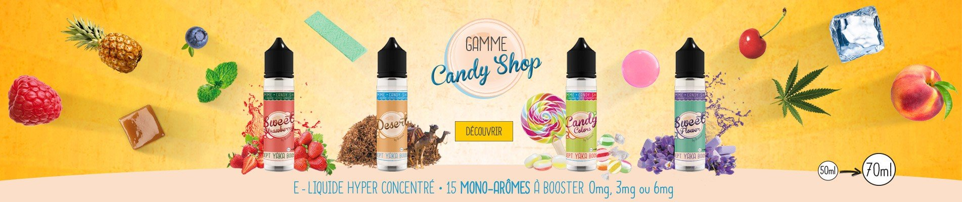 E-liquide Candy Shop 50ml à booster